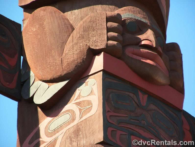 Hidden Mickey in the Totem pole at Epcot
