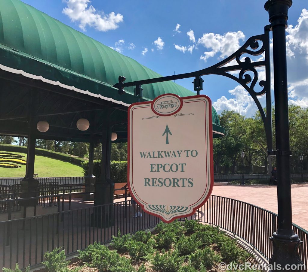Sign for Epcot Resorts