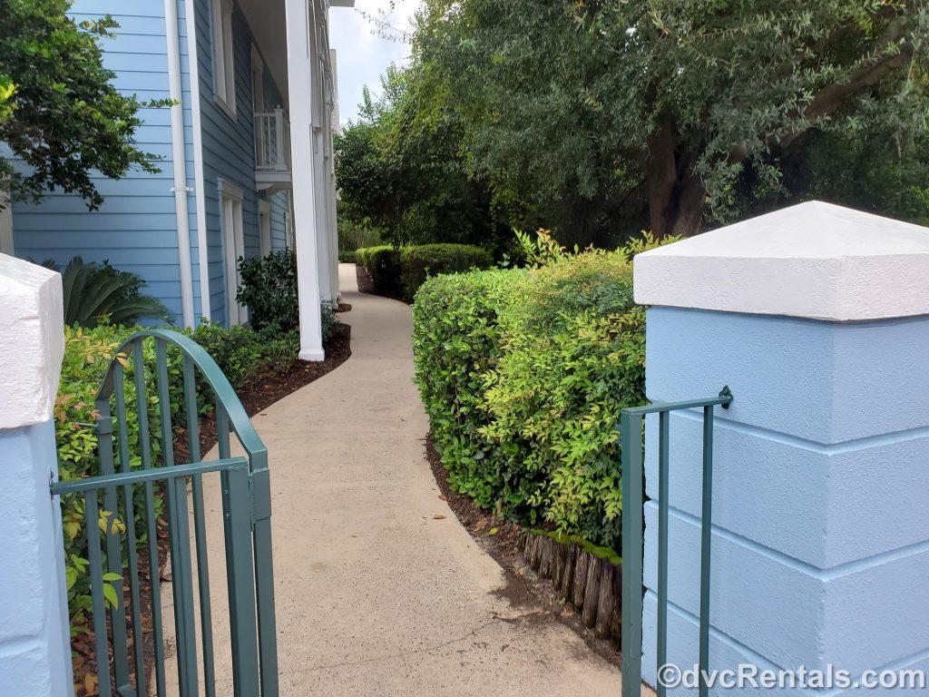 walking path at Disney's Beach Club Villas