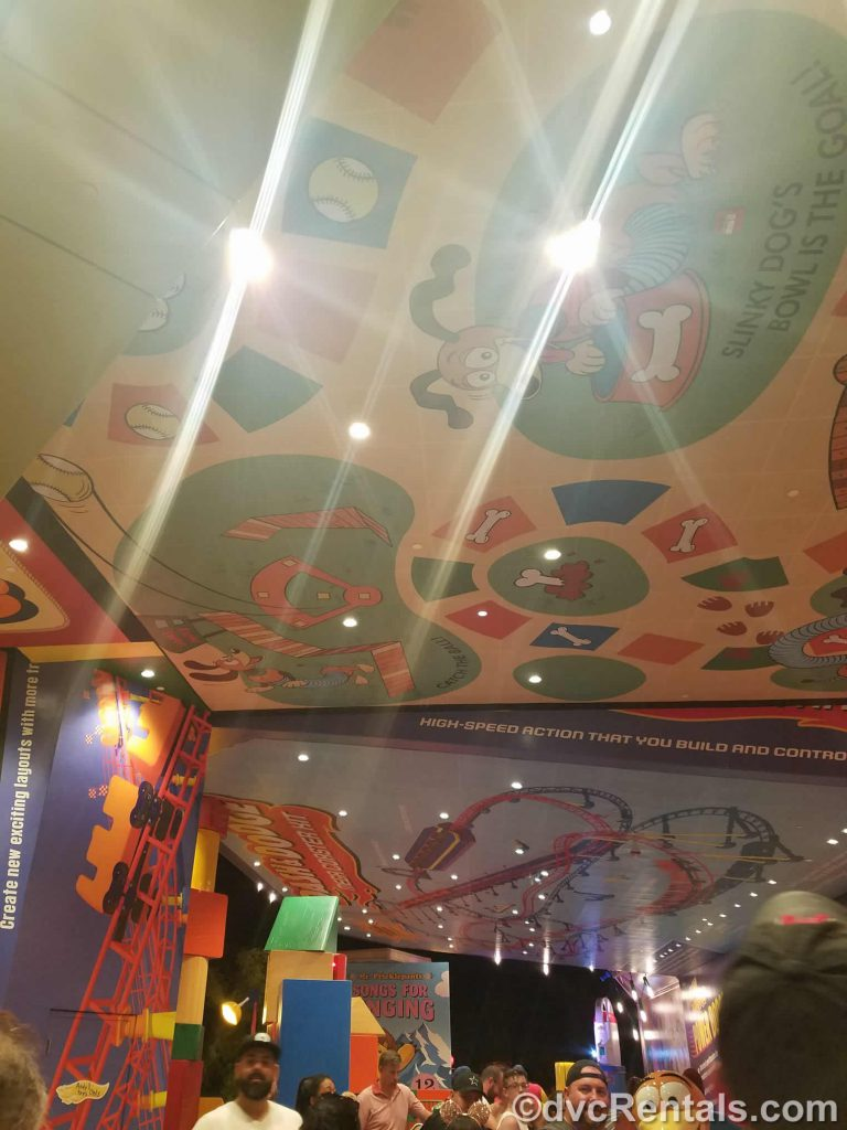 Ceiling at Toy Story Mania