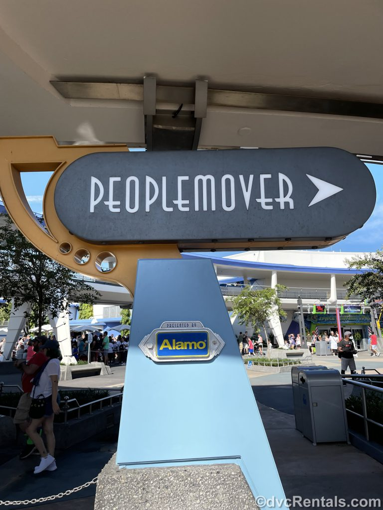 Sign for the PeopleMover at Magic Kingdom