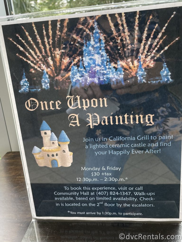 Sign for Once Upon a Painting Session