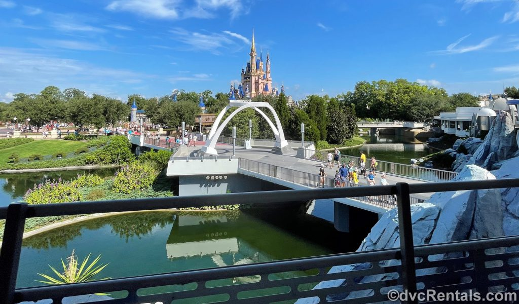View from the PeopleMover at Magic Kingdom