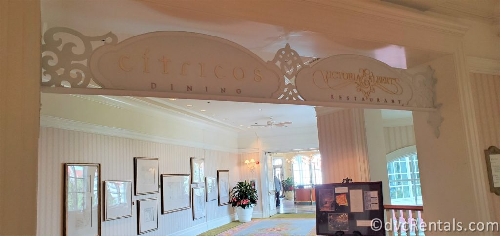 Sign for Citricos at Disney's Grand Floridian