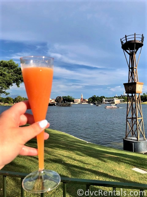A drink from Epcot's World Showcase