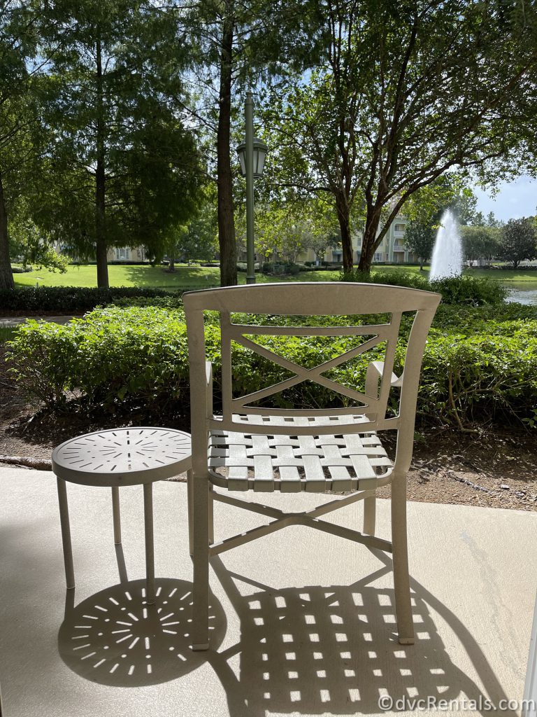 patio at Disney's Saratoga Springs Resort & Spa