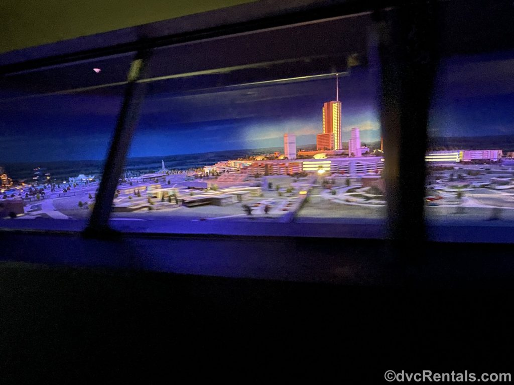 Futuristic City of EPCOT as seen on the PeopleMover