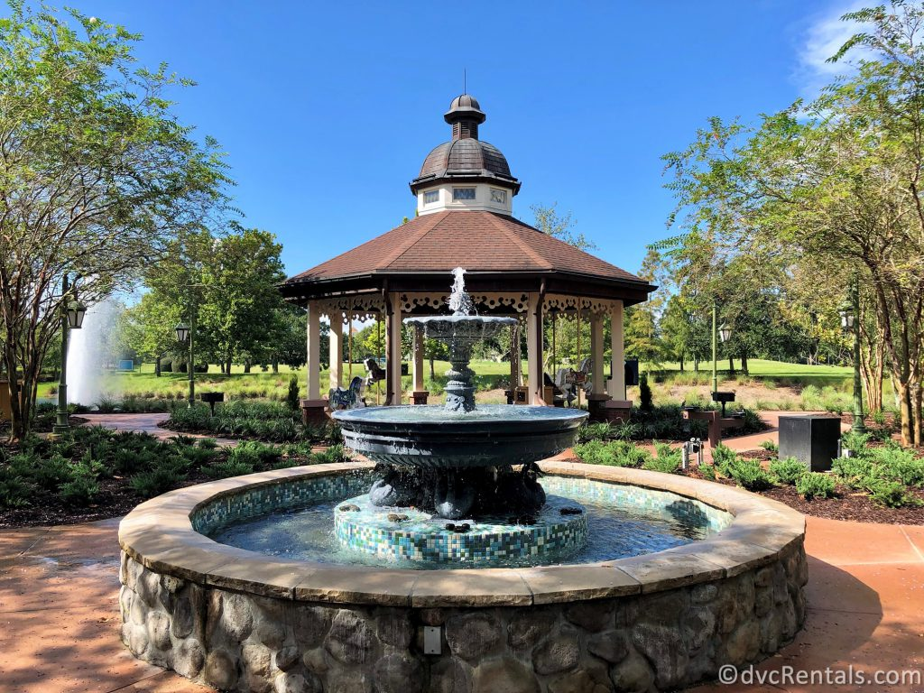 Springs and fountain at Disney's Saratoga Springs Resort & Spa