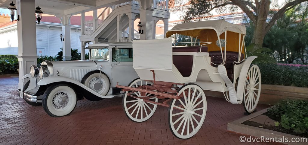 Carriage and Vintage car at Disney's Grand Floridian Resort