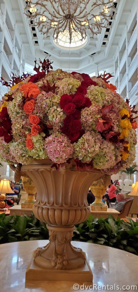 flower arrangement at Disney's Grand Floridian Resort