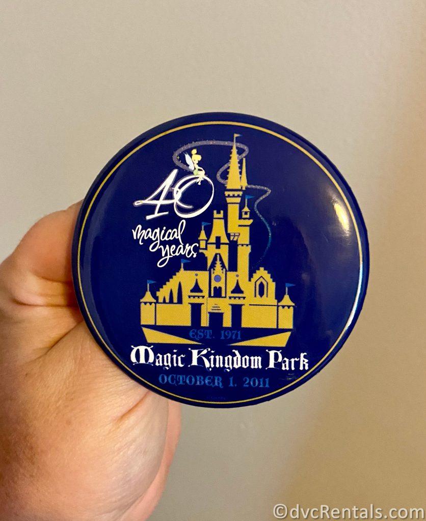 Magic Kingdom's 40th anniversary button