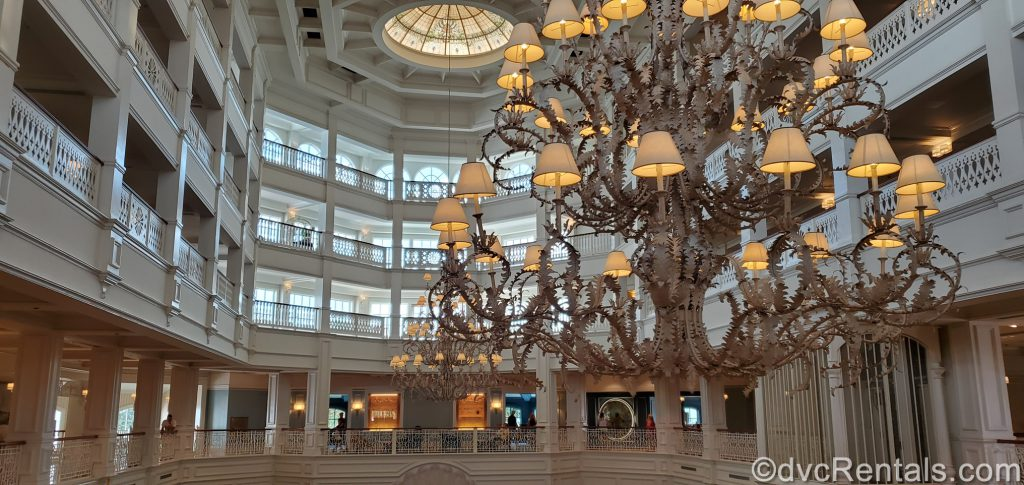 Chandelier in the lobby of Disney's Grand Floridian