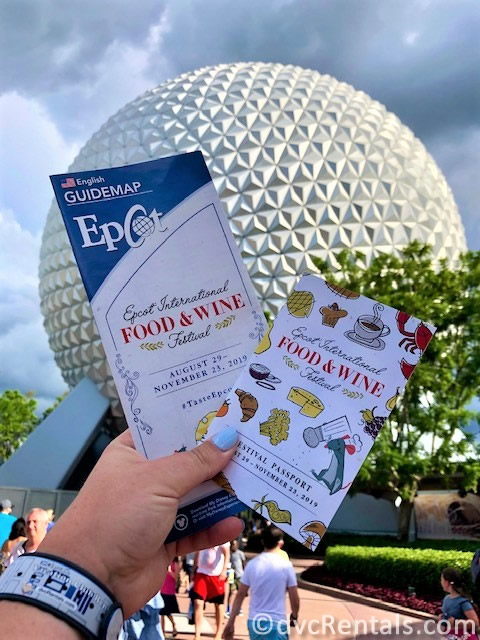 Photo of the menu for the Epcot International Food & Wine Festival