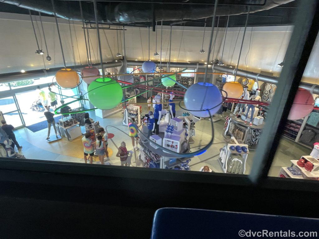 View of Magic Kingdom store as seen from the PeopleMover