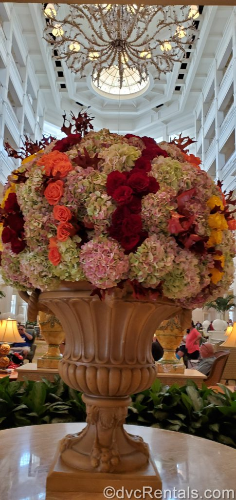 floral arrangement in the lobby of Disney's Grand Floridian