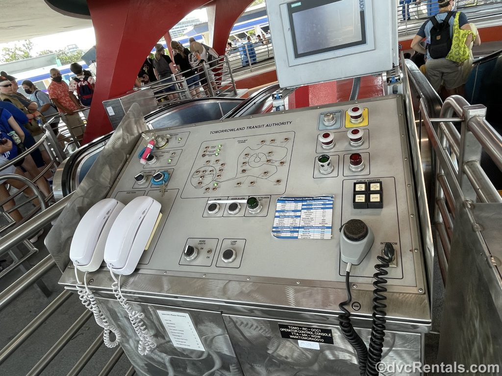 control area for the PeopleMover at Magic Kingdom