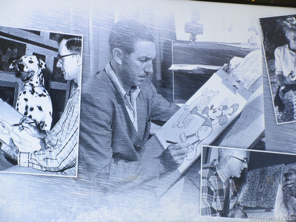 collage of Disney Imagineers drawing animals