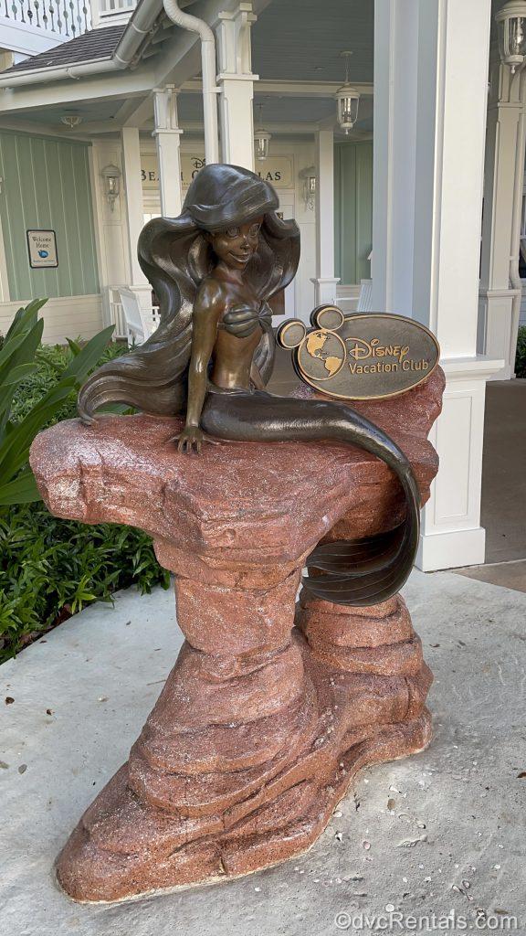 Little Mermaid Statue at Disney's Beach Club Villas