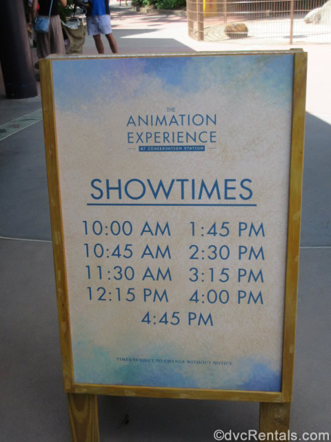 Sign with Animation Experience class times