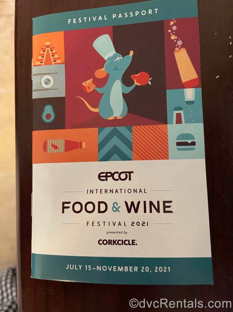 Festival Passport from the Epcot International Food & Wine Festival