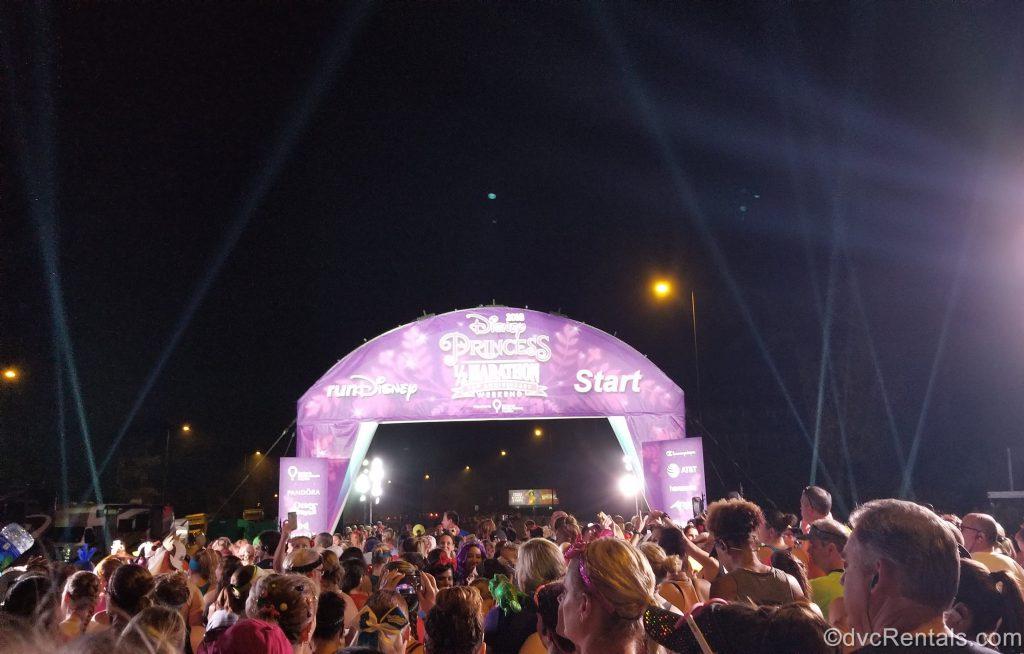 2018 Run Disney Princess Half-Marathon starting Line
