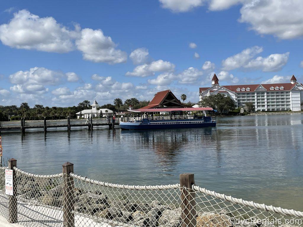Boat at Disney's Grand Floridian boat dock