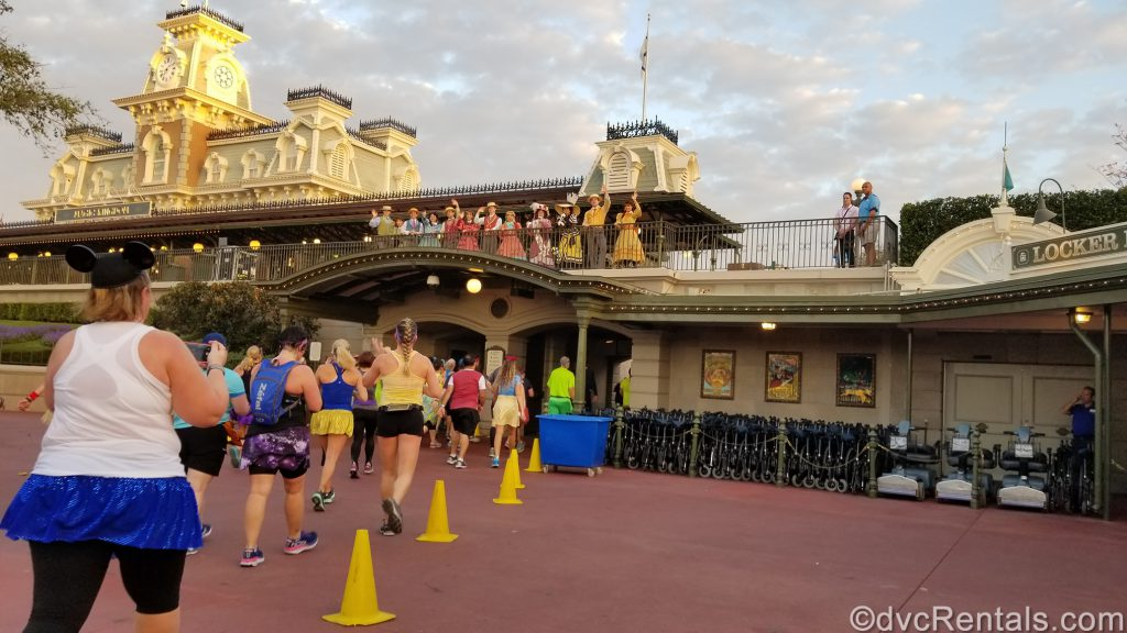 Run Disney event with runners heading into the Magic Kingdom