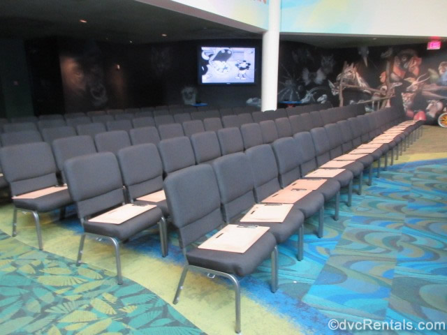 Seating area at the Animation Experience