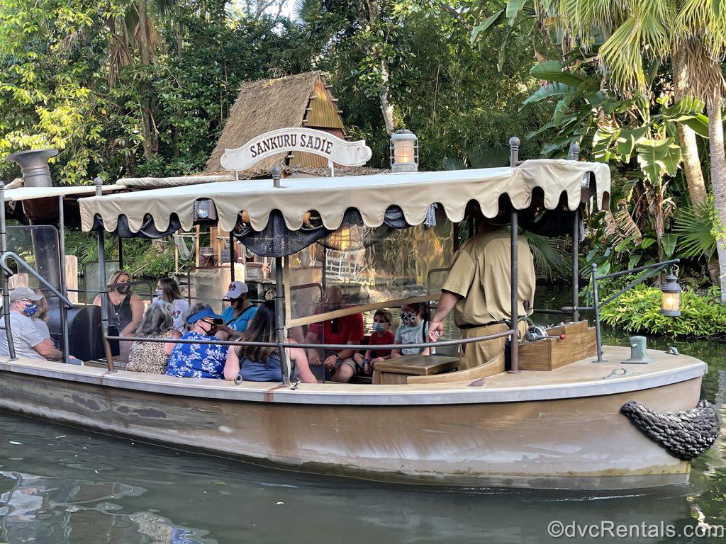 Boat from the Jungle Cruise at Disney's Magic Kingdom
