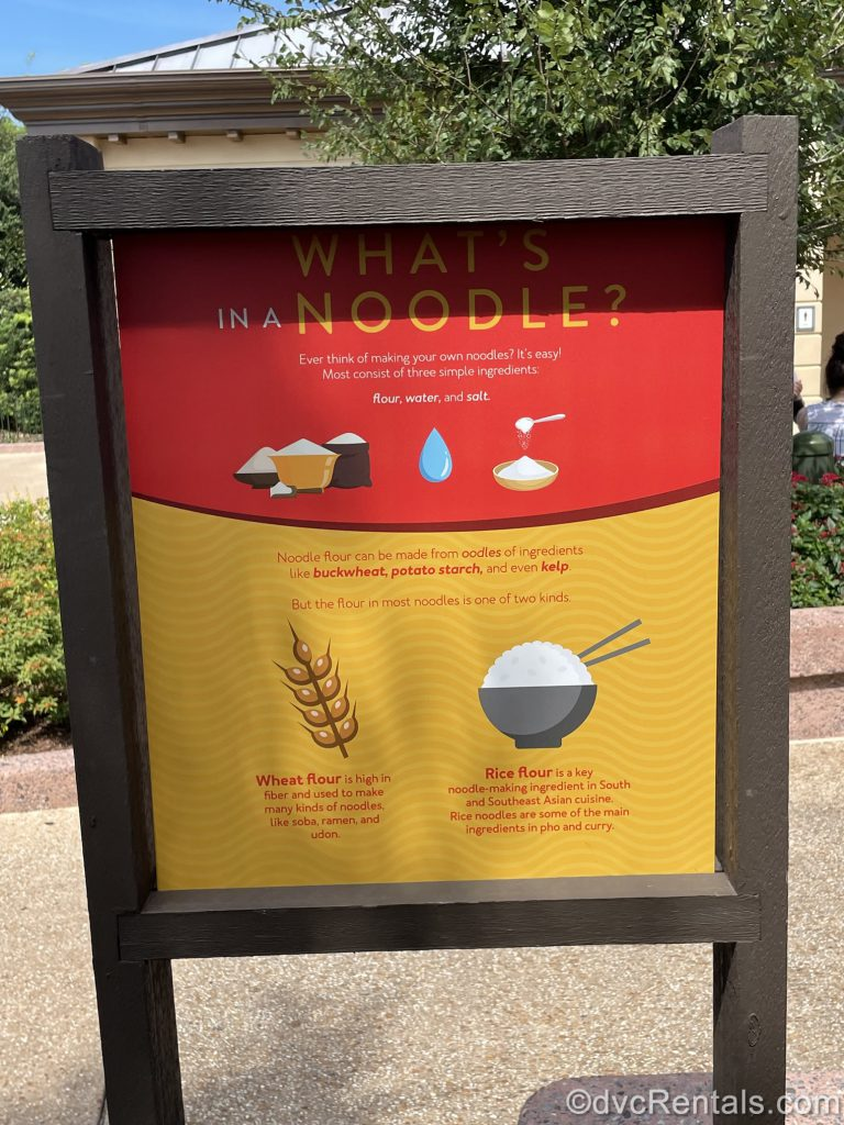 Food booth sign from the Epcot International Food & Wine Festival