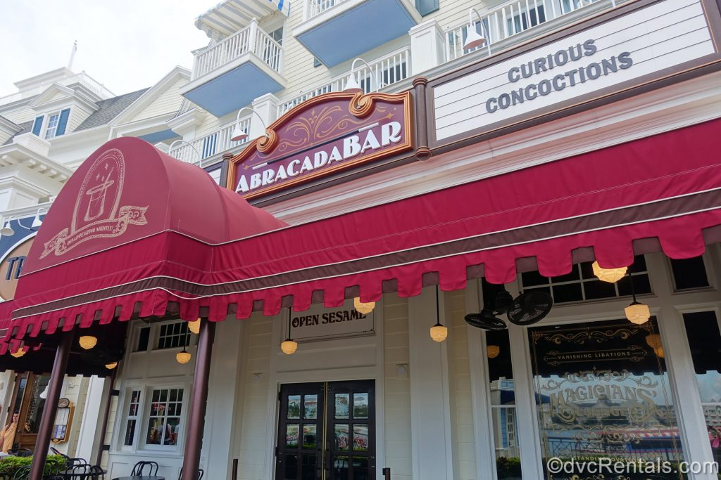 Entrance to the Abracadabar at Disney's Boardwalk Villas
