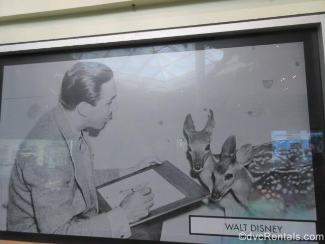 Walt Disney drawing deer for the movie Bambi