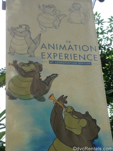 sign for the Animation Experience