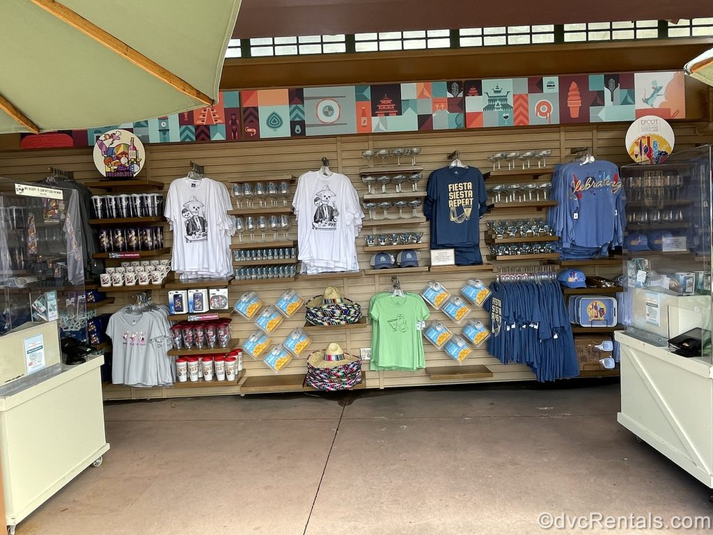 Merchandise from the Epcot International Food & Wine Festival