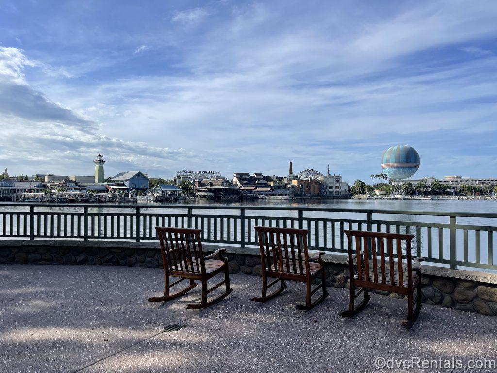 View of Disney Springs from Disney's Saratoga Springs Resort & Spa