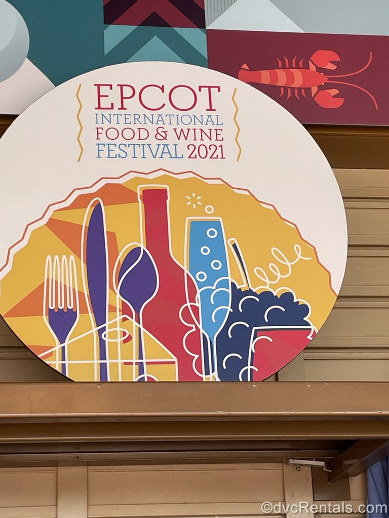 Sign for the Epcot International Food & Wine Festival