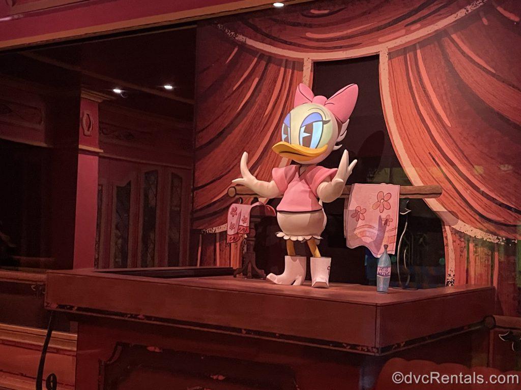 Animatronic from Mickey and Minnie's Runaway Railway