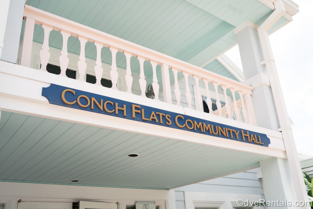 Sign for Disney's Old Key West Community Hall