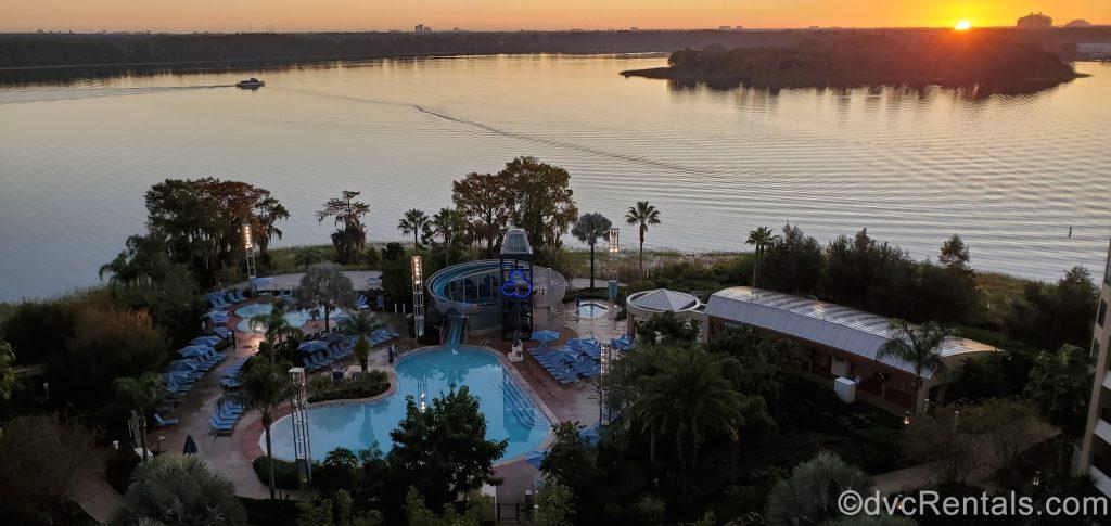 Sunrise at Disney's Bay Lake Tower