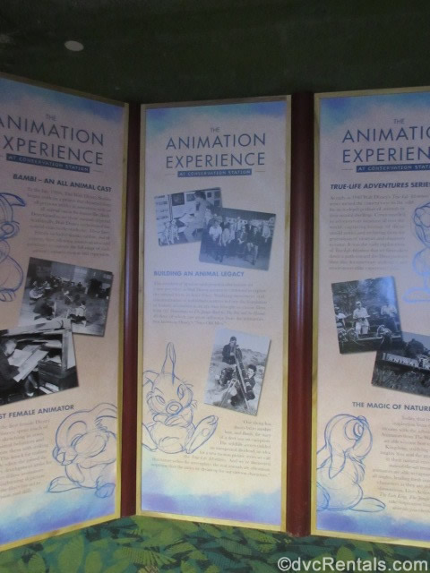 sign for the Animation Experience at the Conservation Station