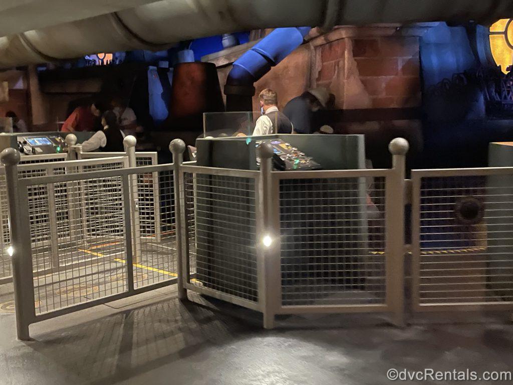 boarding area for Remy's Ratatouille Adventure