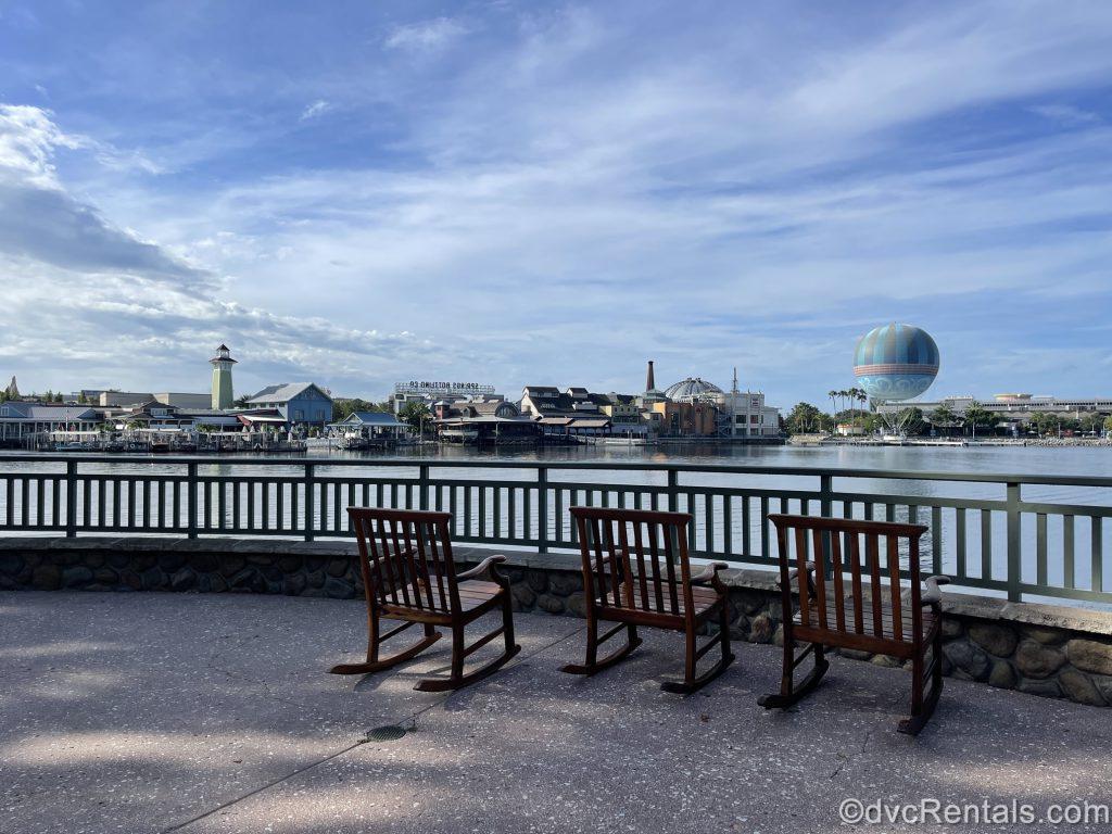 View of Disney Springs as seen from Disney's Saratoga Springs Resort & Spa