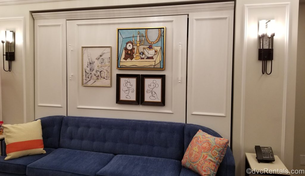 Living Room of a 1 bedroom villa at Disney's Rivera Resort
