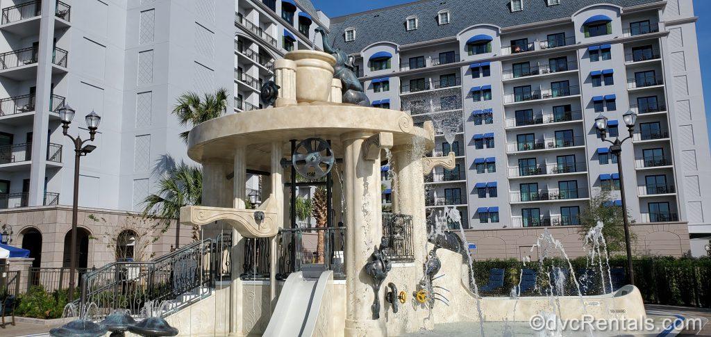 Waterplay area at Disney's Riviera Resort
