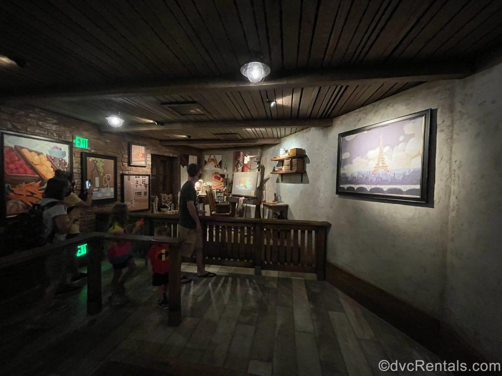Artist's Loft scene from Remy's Ratatouille Adventure